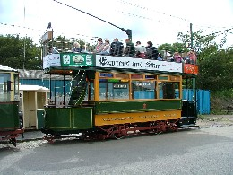 Tramcar 49 after restoration was completed.