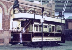 This looks like a typical electric tram. In fact it's a horse