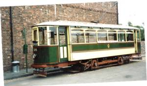 "A ""Tividale"" tramcar, dating from around 1920. The