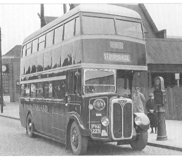 A BMMO FEDD double decker outside Dudley garage.